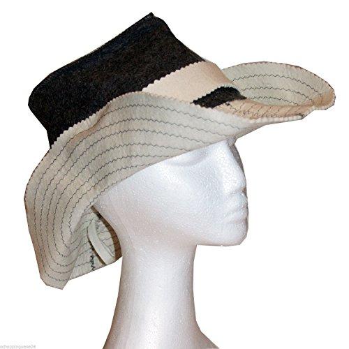 Preisvergleich Produktbild ALKO Filzkappe Saunahut Saunamütze accessoires Einheitsgröße (Cowboy Hut)