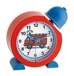 TFA Dostmann TATÜ-TATA Analoger Kinderwecker TatüTata, 60.1011.05, Feuerwehr Uhr, für Kinder geeignet, einfache Bedienung, Kunststoff, Rot, (L) 130 x (B) 52 x (H) 132 mm