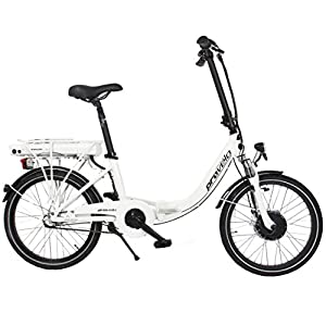 Provelo Unisex E-Bike Faltrad Elektrofahrrad / Fahrrad / Stadtrad, weiß, 3 Gang Nabenschaltung, Reifengröße: 20 Zoll (50,8 cm)