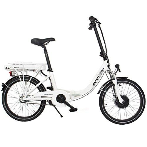 Preisvergleich Produktbild provelo Unisex E-Bike Faltrad Elektrofahrrad/Fahrrad/Stadtrad, weiß, 3 Gang Nabenschaltung, Reifengröße: 20 Zoll (50,8 cm)