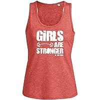 0cc2122ca6b295 Canotta Fitness da donna Le ragazze sono più forti GirlsareStronger - 9  colori (M