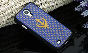 IMPURE New Blue with Black Khanda PC Back Case Cover With Rubberized Coating Galaxy S4