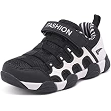 Chaussure de sport garçon fille sneakers jogging running maille cuir fausse marche course velcro légère confort mixte enfant