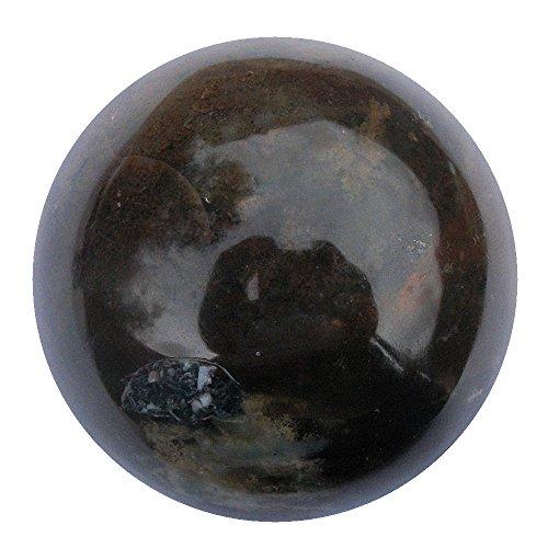 Blutstein Heliotrop Wahrsagen Wahrsagende Kristallkugel,, 58mm, 260g (BS4Glockenspiel)