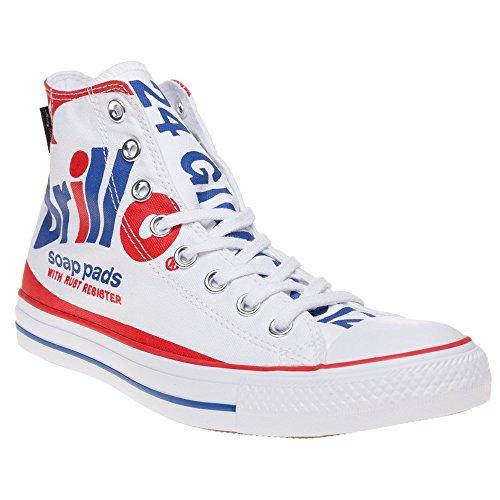 Converse Warhol All Star Hi Uomo Sneaker Bianco Weiß