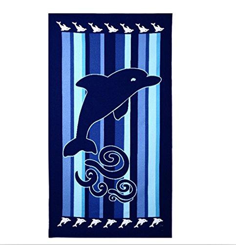 Hongci microfibre Plage & Serviette de voyage de grande taille 180cm x 100cm-à séchage rapide, léger, absorbant, compact, idéal pour les voyages, Natation, yoga, Sports, camping, plage, Serviette de bain ou à la maison-The Perfect, bleu, 180*100cm