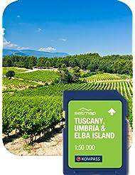 Satmap mapcard: Toskana/Umbria/Elba 1: 50K