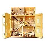 Holz-Bausatz mit Einrichtung & Beleuchtung - 7