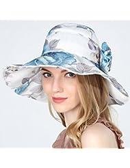 Hyun times Chapeau de soleil, femme, été, pliable, écran solaire, écran solaire, visage, voyage, sauvage, anti-ultraviolet, grand, le long du chapeau