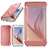 moex Samsung Galaxy S6 | Hülle Transparent TPU Void Cover Dünne Schutzhülle Rosé-Gold Handyhülle für Samsung Galaxy S6 Case Ultra-Slim Handy-Tasche mit Sicht-Fenster