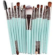 Westeng Set de Brochas 15pcs Pinceles Profesionales Profesional Pro Brushs Makeup Cosmético Combinando Corrector Sombra de Ojos Ceja en Polvo