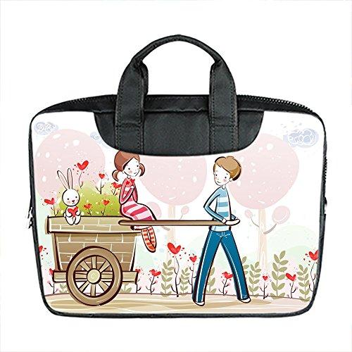 Benutzerdefinierte 15 Zoll importiert Nylon wasserdicht Stoff Laptop tragbare Schulter Messenger Bag Diy Jungen und M?dchen Cartoon Bild Design -