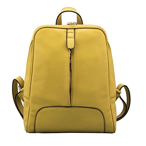 Epoca Della Scuola Zaino In Pelle Borsa A Tracolla Del College Zaino PU Per Le Donne Multicolor Yellow