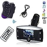 1,5 '' LCD-Auto Bluetooth MP3-Player-drahtloser FM Transmitter-Lenkrad Freisprecheinrichtung Bluetooth Car Kit Unterst¨¹tzung USB SD MMC + Fernbedienung