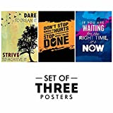 #1: Printelligent Motivational Posters For Office And Study Room - Set of 3 |Inspirational Wall Quotes | Size 12 x 18 Inch | Wall Art | New Year Gift | Home Décor | Perfect Gift Item | Room Stickers