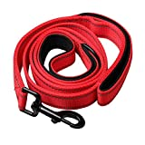 Zhiye – Reflektierende, dicke Hundeleine für die Nacht, 1,5 m lang, Trainingsleine aus Nylon, für Hunde und Katzen rot