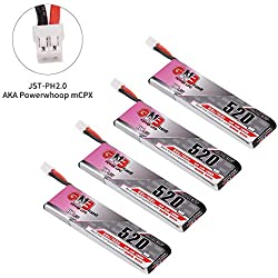 FancyWhoop 4pcs 520mAh 1S 3.8V LiPo Batería 80C HV LiHv Batería JST-PH 2.0 PowerWhoop Conector MCPX para Inductrix FPV más EMAX Tinyhawk Micro FPV Racing Drone, etc.