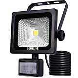 SOMELINE 10W LED-Außenstrahler mit Bewegungssensor, Sicherheitslicht LED-Flutlicht mit PIR SOMELINE IP66 Wasserdichte Flutlichtstrahler