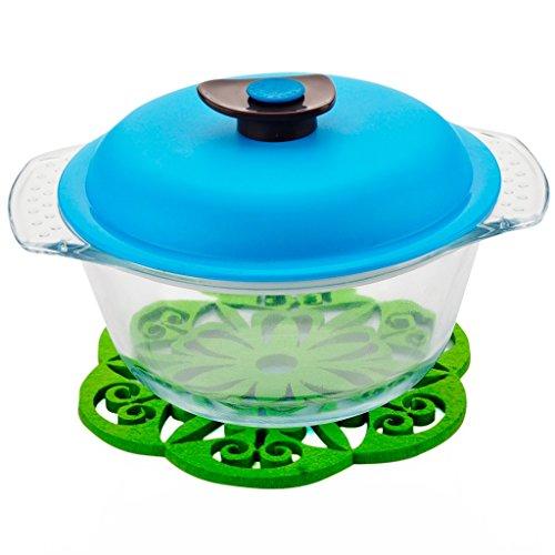 Bol en verre résistant à la chaleur Bol Fresh-Keeping Lunch-Box Nouilles instantanées Bowl ( Color : Blue )
