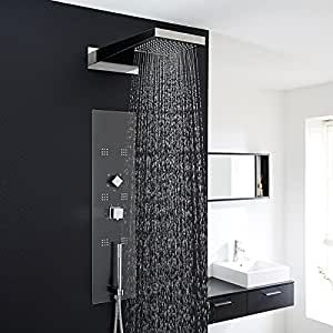 hudson reed colonne de douche thermostatique design encastrable 6 buses hydromassantes. Black Bedroom Furniture Sets. Home Design Ideas