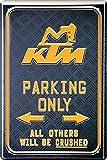 KTM Parking Only Motorrad Bike Blechschild 20 x 30...