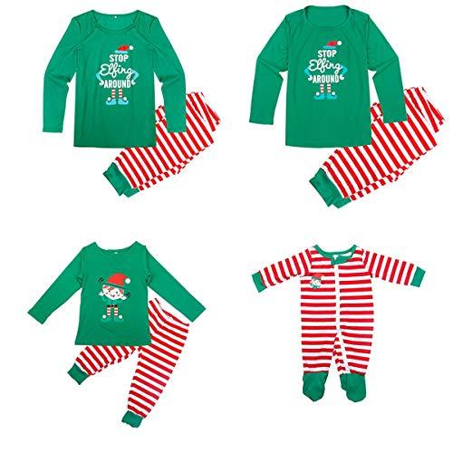 Conjunto Pijamas Juego Familia Navidad papá, mamá
