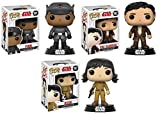 Funko POP! Star Wars The Last Jedi: Finn + Poe Dameron + Rose - Stylized Vinyl Bobble-Head Figure Set NEW