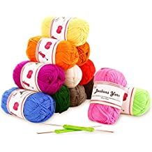 Amigurumi Set di gomitoli di lana Fuyit Filati Lana Acrilica Filato Lana Lavori a Maglia Gomitoli di Lana 12 Multicolore