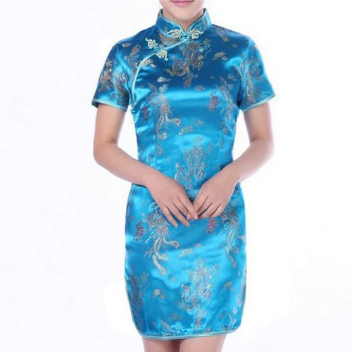 Hee grand chine cheongsam robe de soirée sexy pour femme - Seeblau