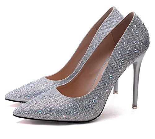 7cm cristallo tacchi alti a mano lusso Hot Fashion scarpe in pelle femminile da donna 1