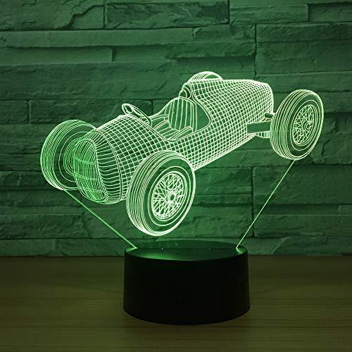 XIAOHE 2019 Sport Auto 3D LED Illusion licht nachtlicht tischlampe 7 Farbe Touch Taste, Schlafzimmer Schreibtisch tischdekoration Lampe Kinder Geburtstagsgeschenk,9_B -