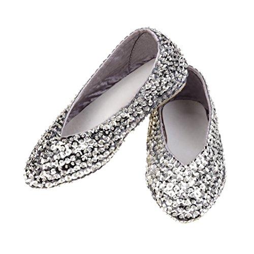 Rose & Romeo - 11026 - Accessoire Pour Déguisement - Chaussures - Lilly - Argent - Taille 31