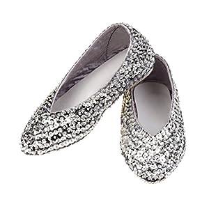Rose & Romeo 11025 - Disfraces Accesorios - Zapatos - Lilly - Plata - Tamaño 29
