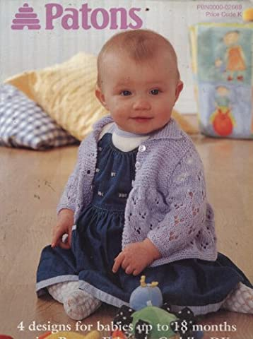 Patons Knitting Pattern Booklet 2669 : Cardigans, Top, Bonnets, Bootees (16-22in) (Patons Fairytale Cuddles DK)