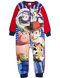 Boys Fleece Character Onesie Pyjamas Childrens All In One Pj's Size UK 1-10 Years