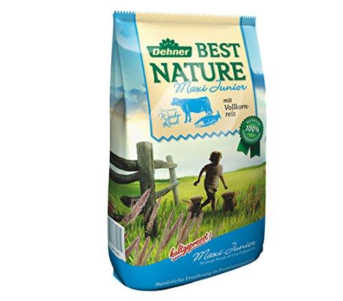 Dehner Best Nature Hundetrockenfutter Maxi Junior, Rind und Lachs, 12.5 kg