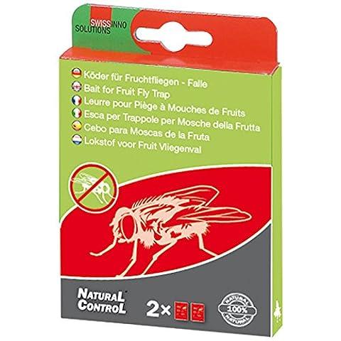 SWISSINNO 1 239 001KS Natural Control Köder Fruchtfliegenfalle 2-er