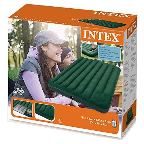 """Intex 66928 Luftbett Downy """"Green"""" Full mit Fußpumpe, 137 x 191 x 22 cm - 3"""