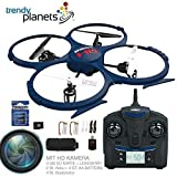 trendy planets® - U818A-1 PRO HD QUADROCOPTER MIT HD KAMERA 2,4 GHZ - PRO HD Edition - 4.5 Kanal, 2.4GHz - AKKU WARNER - Mega-Ersatzteil-Set, Ready-to-Fly + 1 St. ZUSATZAKKU 4 ST. AA Batterie