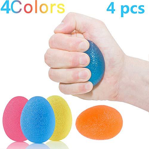 Knautschball Eiförmige Griffbälle Handtrainer Eiförmig Handtrainer Ball Egg der Beste Trainer für die Entwicklung der Hand-und Unterarmmuskulatur/Unterarm/Finger/Handmuskel Set mit 3 Resistenz-Stufen