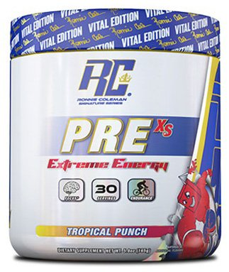 RCSS Pre-XS Pre-Workout Powder Trainingsbooster Booster Bodybuilding 165g (Tropical Punch) -