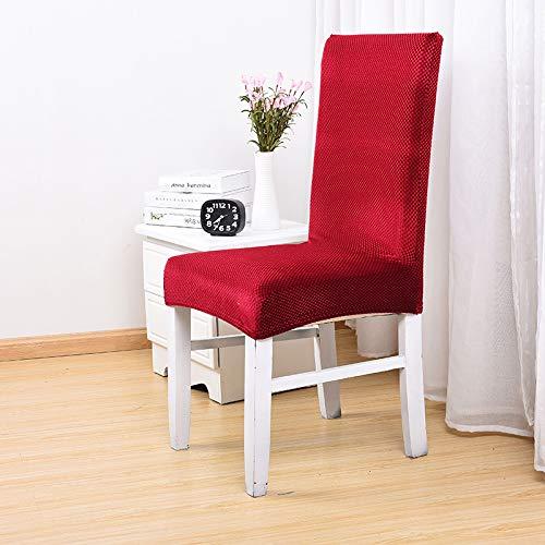 Happymxwx tessuto spessa tessuto elastico codice vino rosso,coprisedie con schienale elasticizzato stampa floreale vestisedia moderno universale fodera per sedie copertura della sedia sala da pranzo