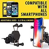 Autofy A-12 X-Grip Premium Bike Mobile Charger & Phone Holder Version 2 for All Bikes Scooters (5V-2A Black)