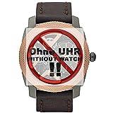 Fossil Uhrband Wechselarmband LB-ME1122 Original Ersatzband ME 1122 Uhrenarmband Leder 24 mm Braun
