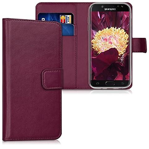 kwmobile Hülle für Samsung Galaxy J5 (2017) DUOS - Wallet Case Handy Schutzhülle Kunstleder - Handycover Klapphülle mit Kartenfach und Ständer (Duo Handys)