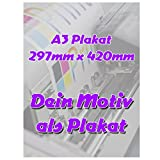 Fotodruck Plakat DIN A3 Plakat 297mm x 420mm individuell mit deinem Motiv selbst gestalten