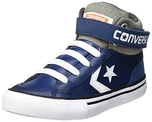 Converse Unisex-Kinder Pro Blaze Strap Hi Navy/Storm Wind/White Hohe Sneaker, Mehrfarbig (Navy/Storm Wind/White), 22 EU (Schuhe Converse Jungen)