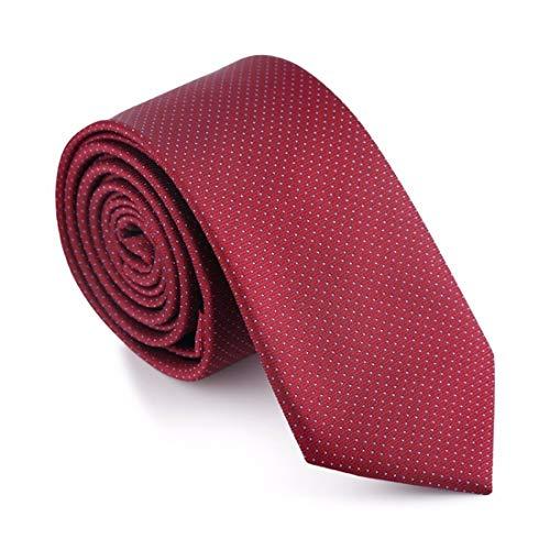 Yetta Home 6cm weinrot Burgund Punkt dünne Krawatte klassischen Design 100% Seide Männer Krawatte Partei lässig Geschäfts Bankett Hochzeit Bräutigam in Geschenkbox