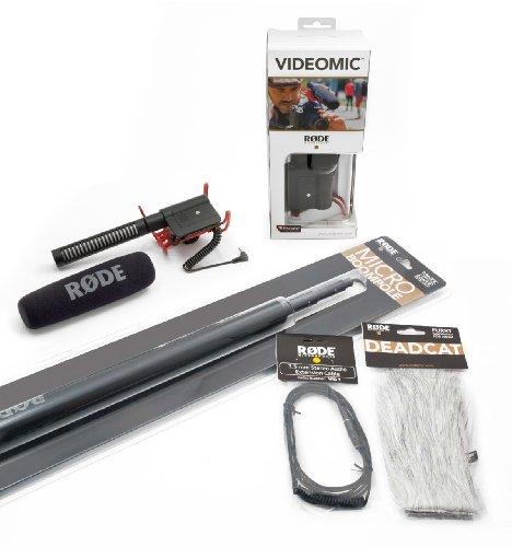 Rode Videomic Rycote Audio Essentials Kit (Richtmikrofon, Teleskop-Tonangel, Deadcat Windschutz, VC1 Verlängerungskabel) Mobile Essentials Kit