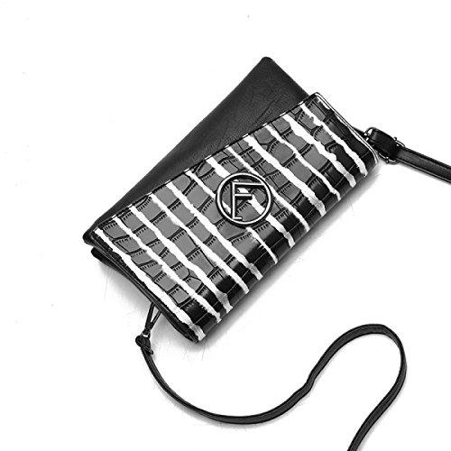2017 Nuova Versione Coreana Del Sacchetto Di Busta Di Modello Di Pietra Borsa A Mano Delle Signore Pacchetto Diagonale Del Polso Black